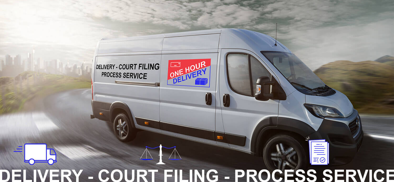 One Hour Delivery, Court Filing, and Process Service in in the San Francisco Bay Area
