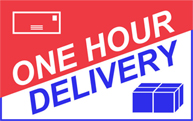 ONE HOUR DELIVERY SERVICE Logo
